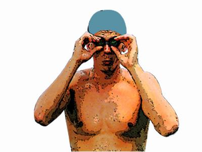 La colocación de las gafas es esencial en las pruebas de natación