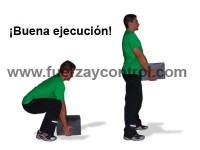 El levantamiento de cargas con flexión de rodillas