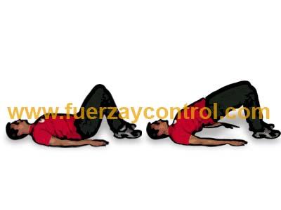 Movilidad de espalda baja en posición de puente de cadera