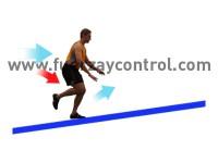 Saltos cuesta arriba para entrenar la fuerza de las piernas