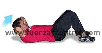 Ejercicio de estiramiento de músculos extensores de zona cervical