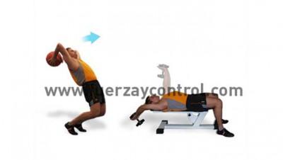 entrenamiento del lanzamiento de ejercicio balonmedicinal