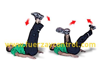 Ejercicio de fortalecimiento de aductores de cadera tumbado