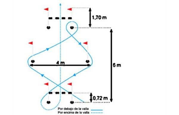 Circuito Cnp : Test de agilidad el circuito vallas y picas