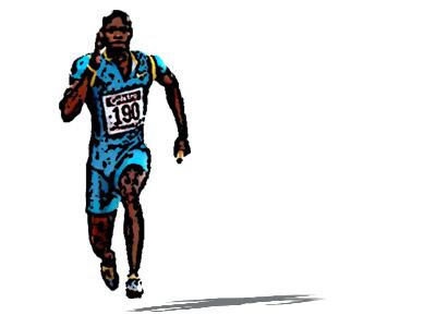 Movimiento de brazos en el corredor de velocidad