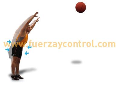 El equilibrio en el lanzamiento de balón medicinal