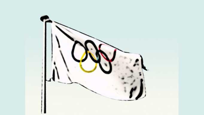 Símbolos olímpicos: Bandera olímpica, llama olímpica y medallas