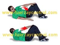Ejercicio de fortalecimiento abdominal y rotadores