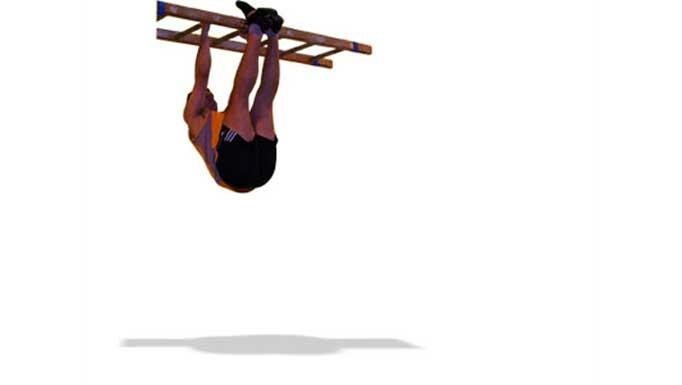 La escalera: Medio de trabajo para ejercicios de suspensión