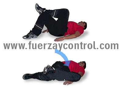 Ejercicio de estiramiento para los rotadores externos de la cadera