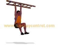 Elevación de piernas flexionados en suspensión