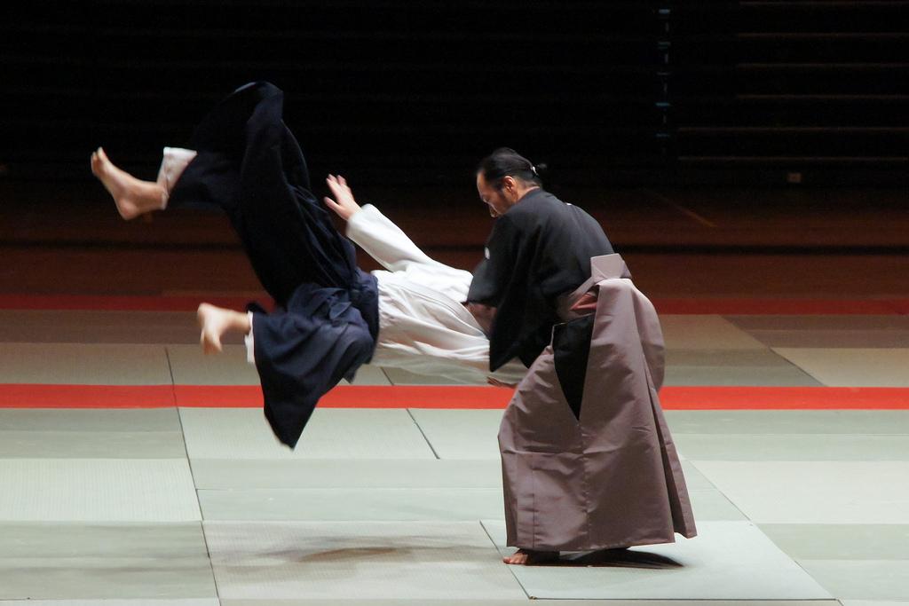 La caída al suelo en artes marciales, el ukemi